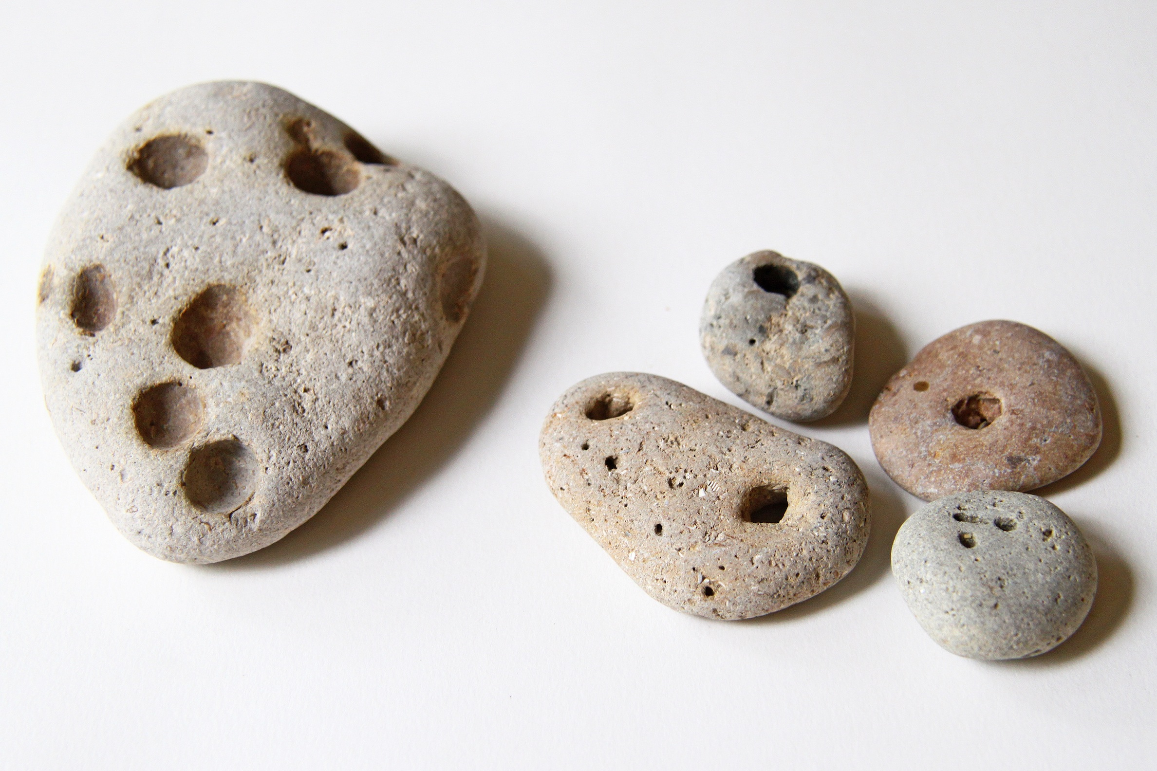 collection of rocks with small holes