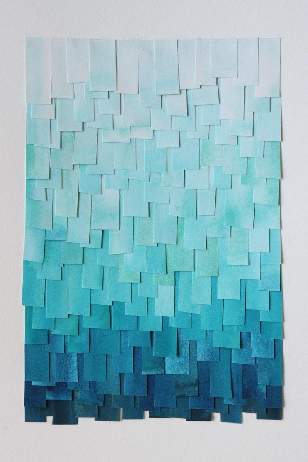 shingled collage: blue