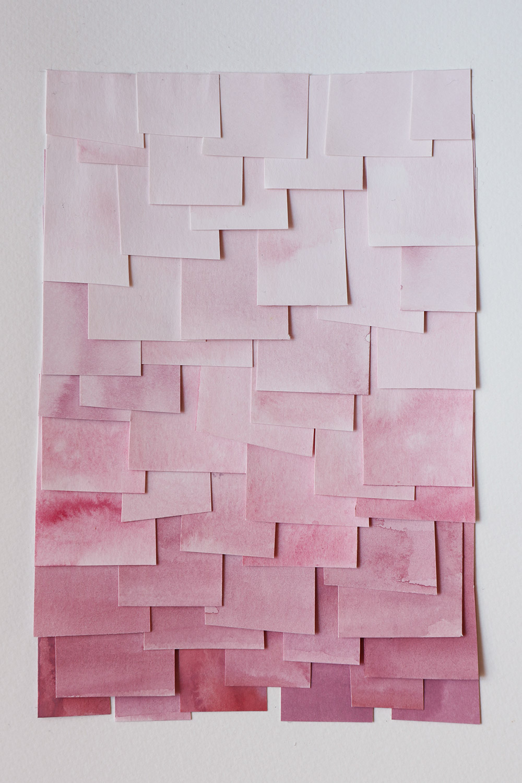 shingled collage: pink
