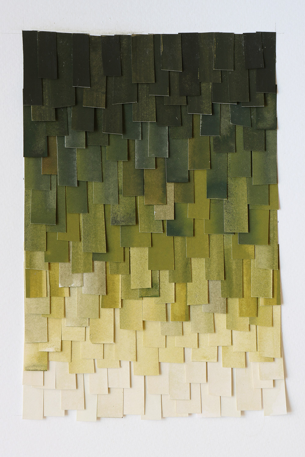 shingled collage: olive