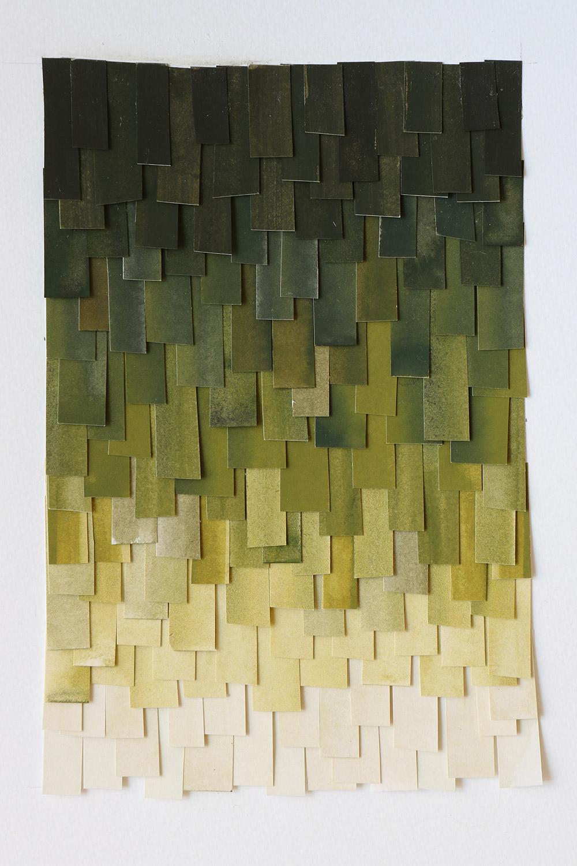 shingled collage: olive