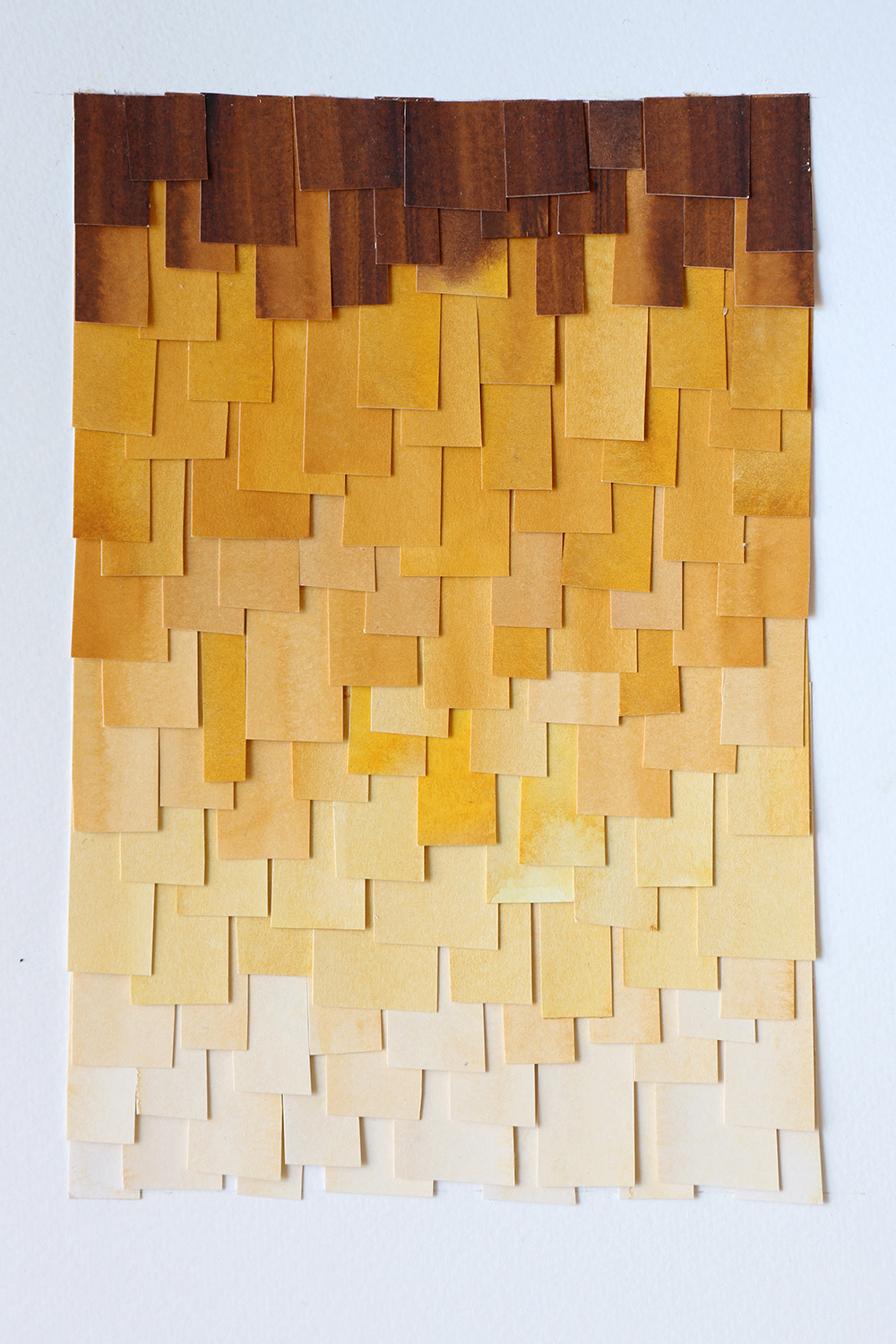 shingled collage: ochre