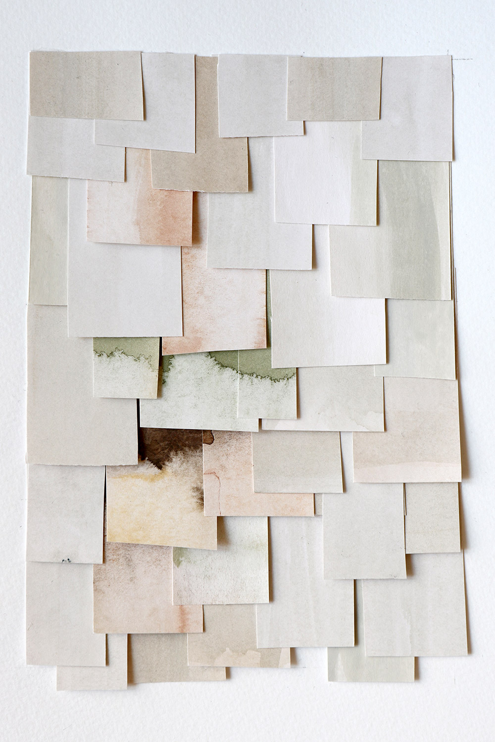 shingled collage: white