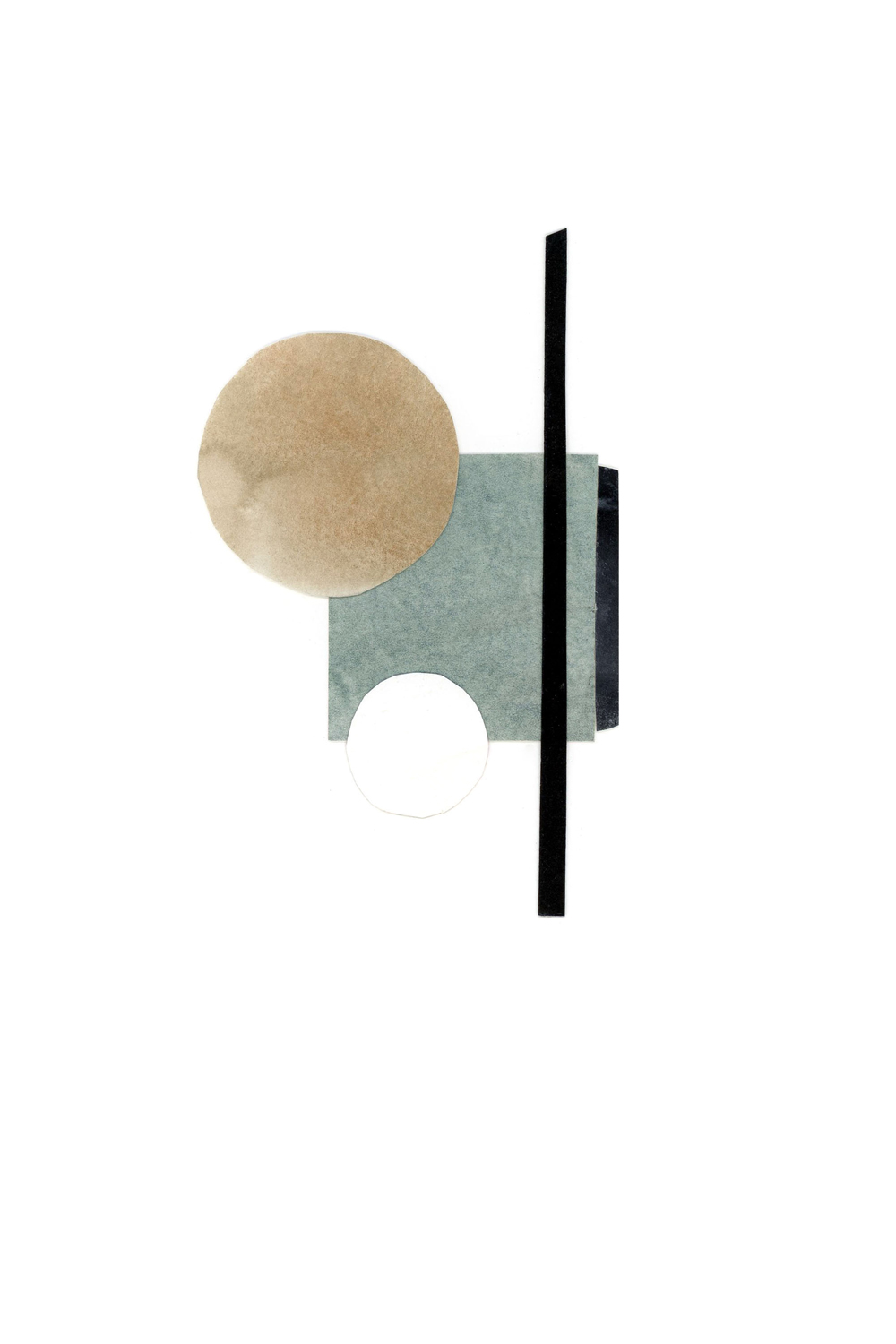 simple shape and form collage, no. 5