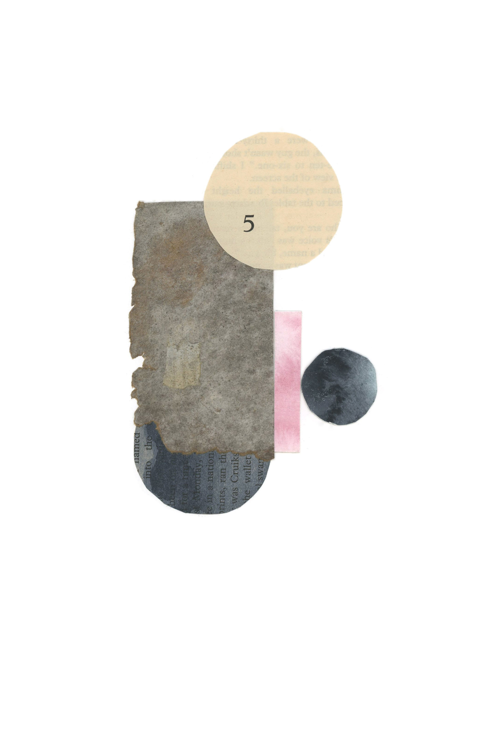 simple shape and form collage, no. 1