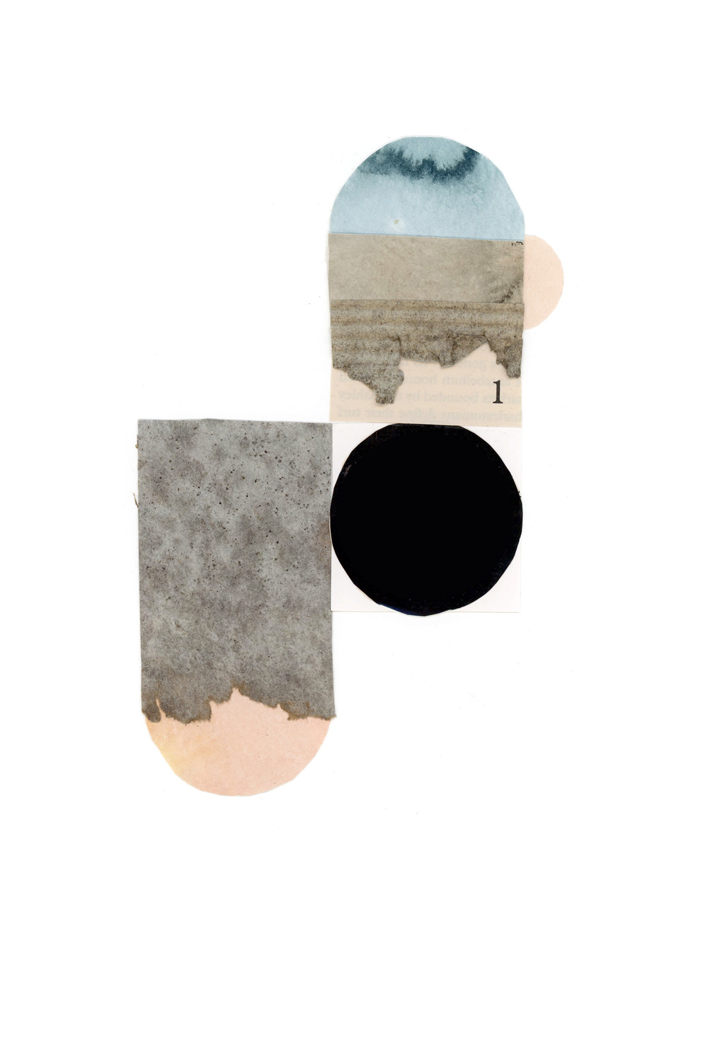 simple shape and form collage, no. 3