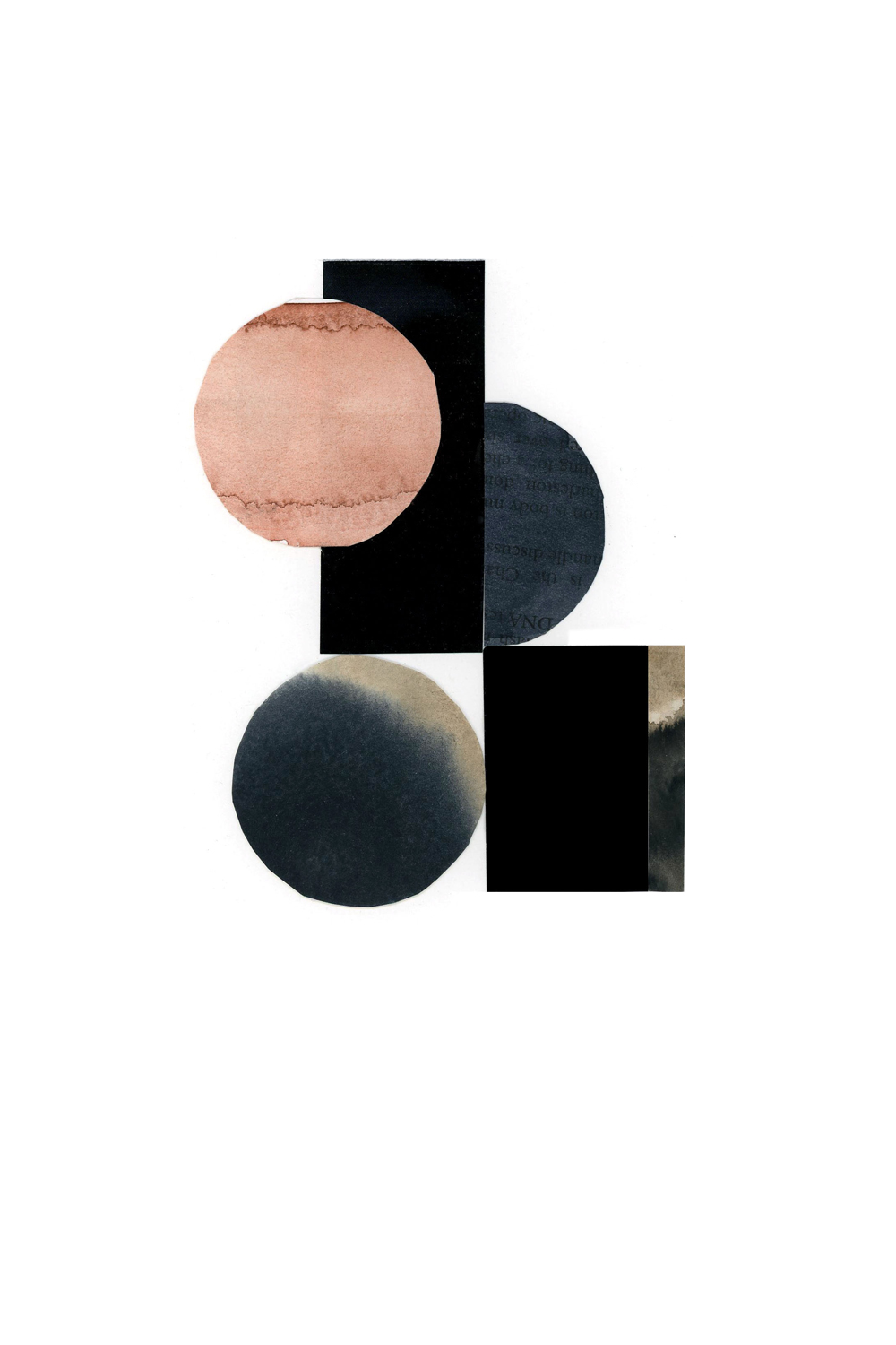 simple shape and form collage, no. 4