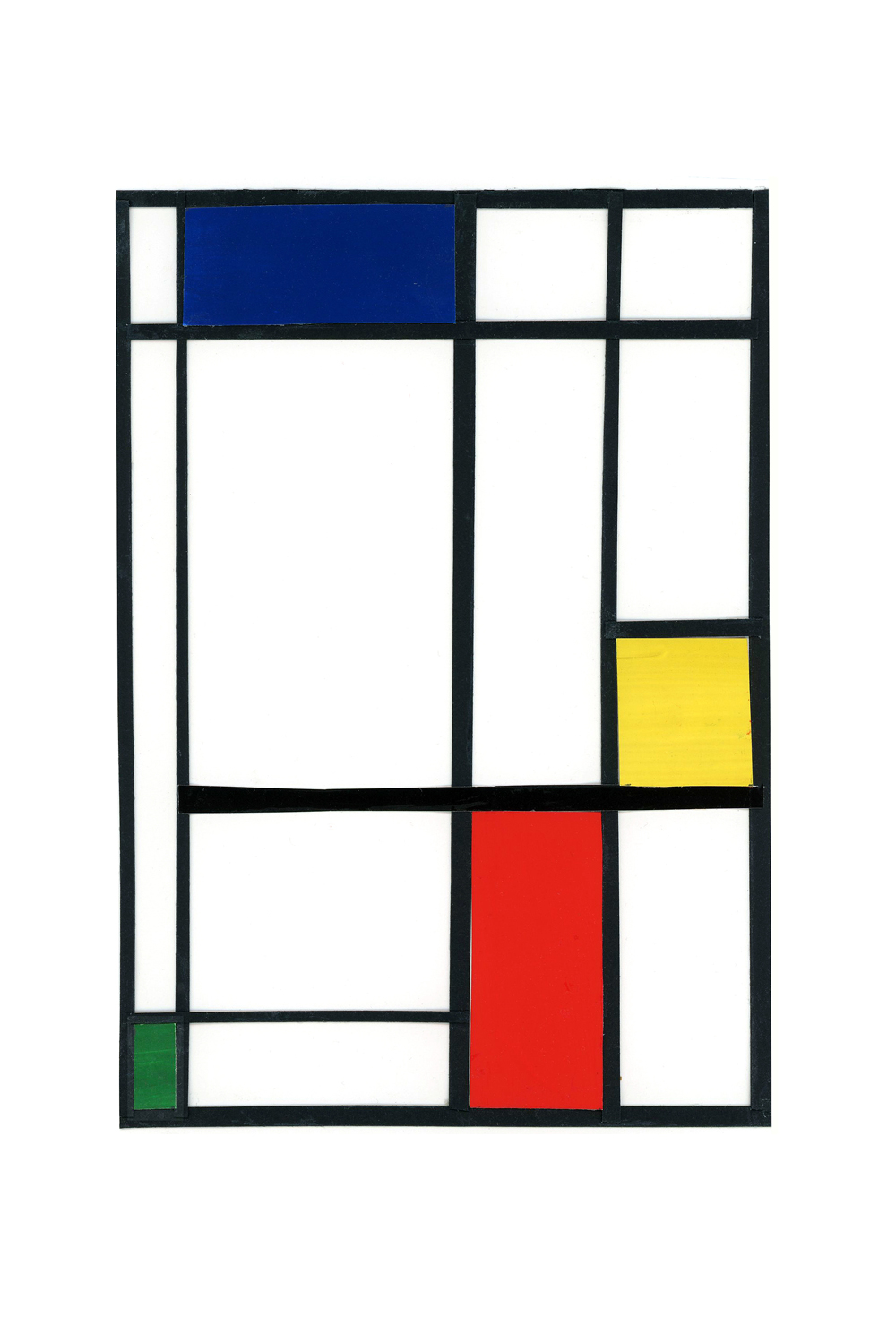 primary colors collage series, collage no. 2