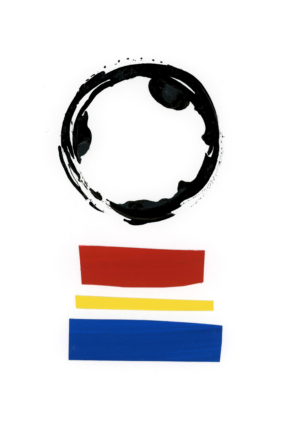 primary colors collage series, collage no. 3