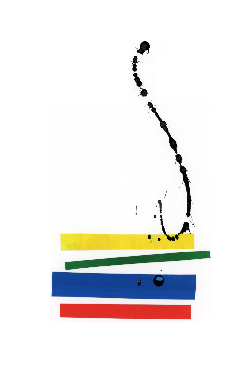 primary colors collage series, collage no. 4