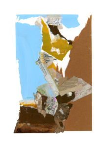 motherwell inspired series, collage no. 1