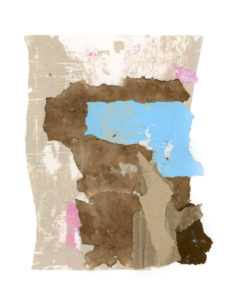 motherwell inspired series, collage no. 2
