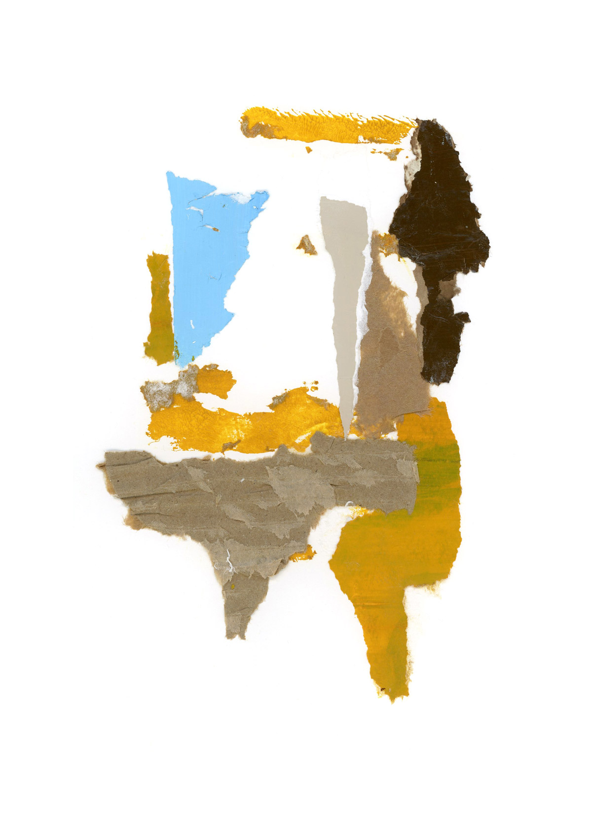 motherwell inspired series, collage no. 5