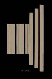 classical composer series, collage no. 4 Rossini