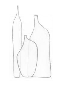 mediterranean bottles collage series, collage no. 2
