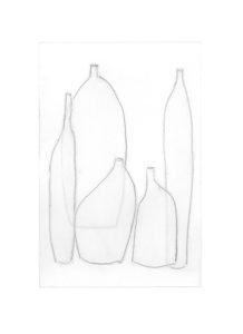 mediterranean bottles collage series, collage no. 5