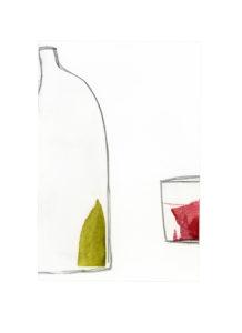 mediterranean bottles collage series, collage no. 6